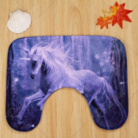 Fashion Antislip 3Pcs Fairyland Unicorn Bathroom Mats Set - PURPLE  Mobile