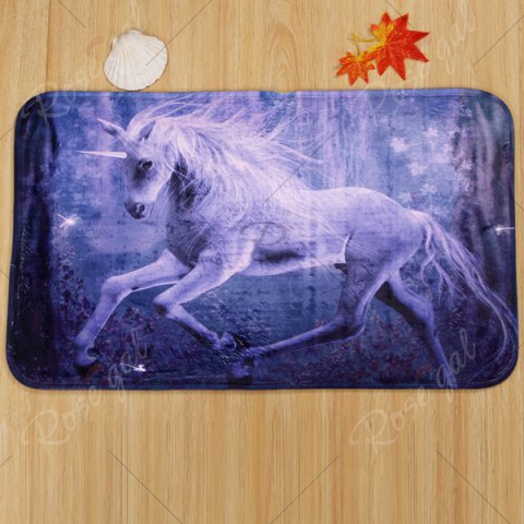 New Antislip 3Pcs Fairyland Unicorn Bathroom Mats Set - PURPLE  Mobile