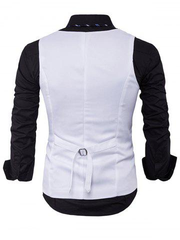 Unique Single Breasted V Neck Edging Waistcoat - WHITE M Mobile