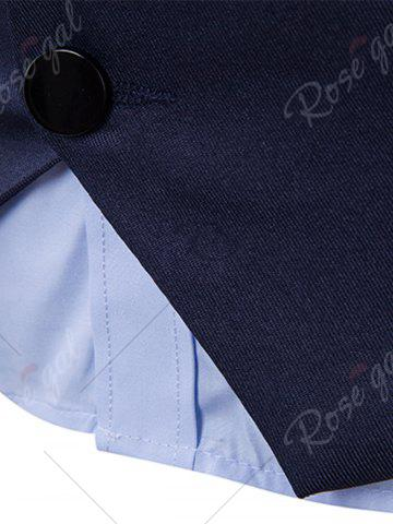 Online Single Breasted Edging Design Waistcoat - 2XL CADETBLUE Mobile