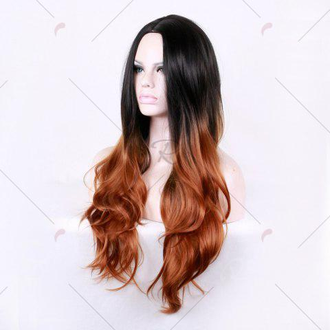 Shops Long Center Parting Layered Wavy Ombre Synthetic Wig - COLORMIX  Mobile