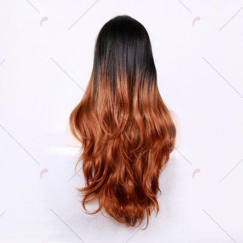 Sale Long Center Parting Layered Wavy Ombre Synthetic Wig - COLORMIX  Mobile