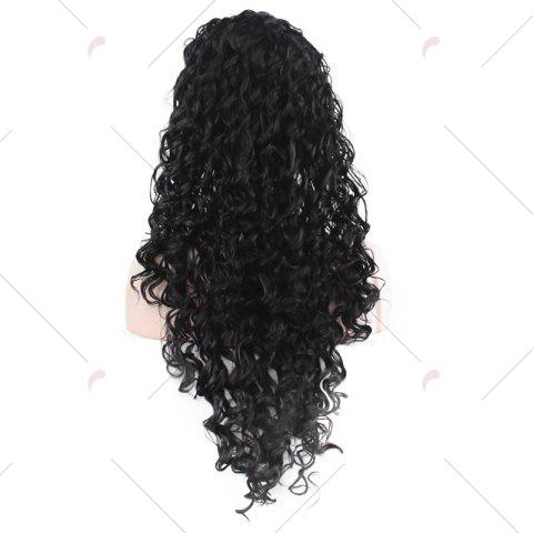 Sale Long Fluffy Afro Little Curly Synthetic Wig - BLACK  Mobile