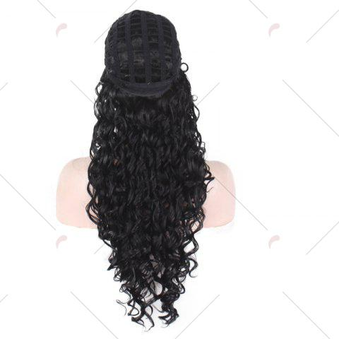 Online Long Fluffy Afro Little Curly Synthetic Wig - BLACK  Mobile