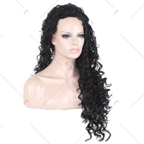Shops Long Fluffy Afro Little Curly Synthetic Wig - BLACK  Mobile