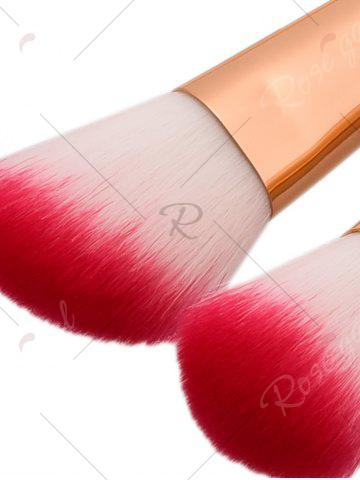 Chic 10Pcs Ombre Glitter Handle Mermaid Makeup Brushes Set - PINK + YELLOW  Mobile
