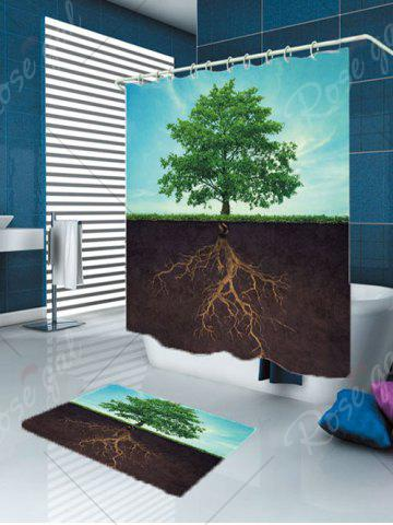 Cheap Waterproof Life Tree Shower Curtain and Rug - W59 INCH * L71 INCH COLORMIX Mobile
