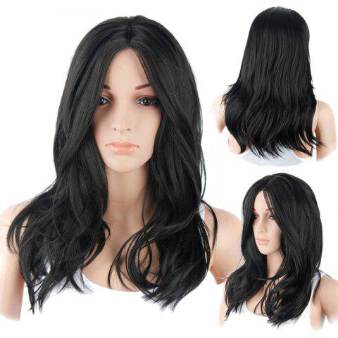 Shops Long Middle Part Layered Natural Straight Synthetic Wig BLACK