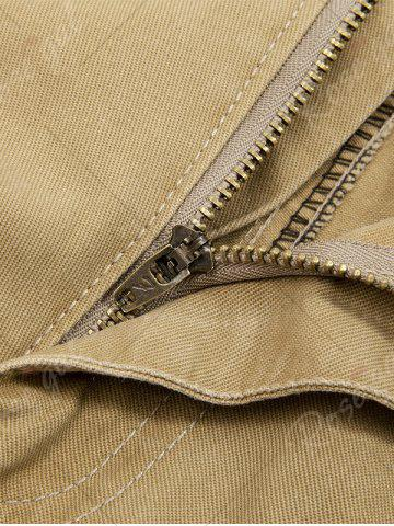 Best Zip Fly String Pocket Cargo Pants - 36 ARMY GREEN Mobile