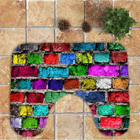Shops Colorful Brick Wall Printed Nonslip 3Pcs Toilet Bathroom Mat - COLORFUL  Mobile