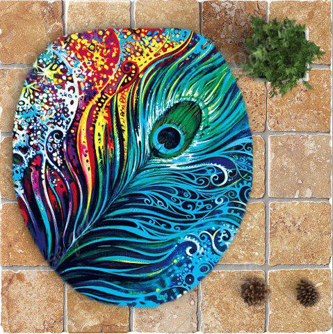 Best Nonslip Peacock Feathers Printed 3Pcs Bathroom Rugs Set - COLORFUL  Mobile