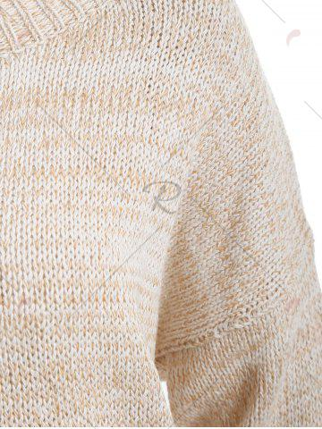 Outfit Boyfriend Drop Shoulder Loose Sweater - ONE SIZE OFF-WHITE Mobile