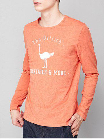 Outfit Ostrich Graphic Print Long Sleeve T-shirt