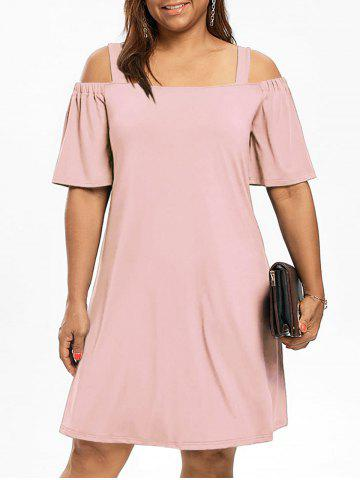 New Cold Shoulder Half Sleeve Plus Size Dress