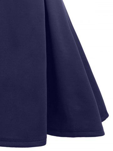Trendy A Line Sleeveless Open Back Club Dress - XL PURPLISH BLUE Mobile