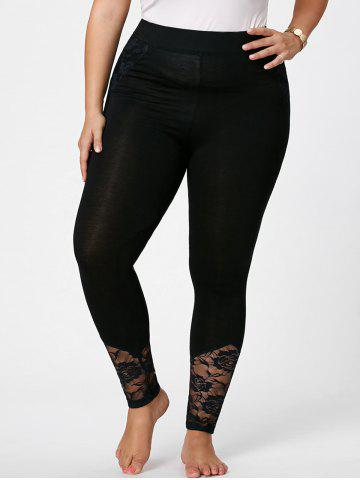 Outfits Plus Size Lace Insert Fitted Pants