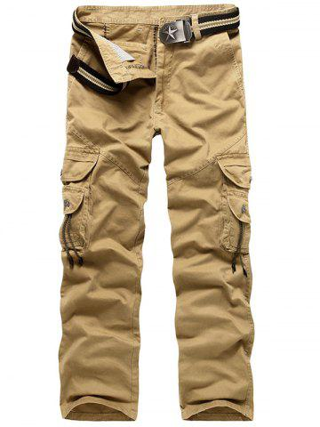 Zip Fly String Pocket Cargo Pants