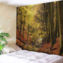 Wall Hanging Forest Stream Print Tapestry -