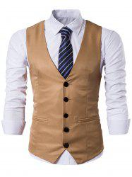 Single Breasted Edging Design Waistcoat