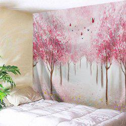 Floral Trees Forest Print Tapestry Wall Hanging Art Decoration