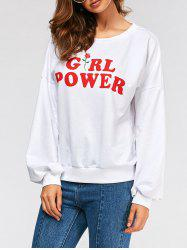 Sweat à capuche Power Shoulder Girl - Blanc L