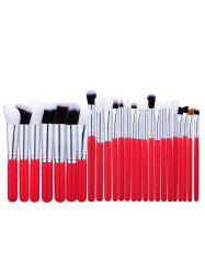 25Pcs Round Handle Makeup Brushes Set -