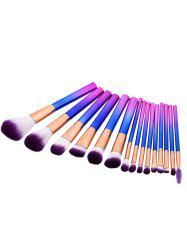 15Pcs Glitter Handle Makeup Brushes Set