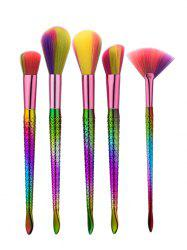 5Pcs Glitter Mermaid Multipurpose Makeup Brushes Set