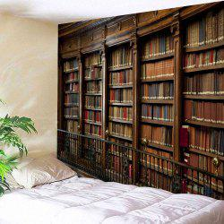 Retro Bookrack Print Tapestry Wall Hanging -