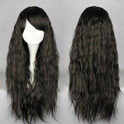 Long Side Bang Fluffy Natural Wave Synthetic Wig