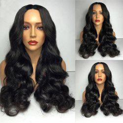 Partie moyenne Long Big Loose Wave Synthetic Wig - Noir