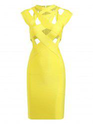 Cut Out Bodycon Cage Fitted Bandage Dress