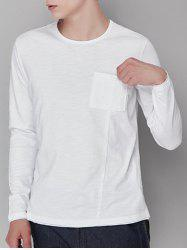 Pocket Cotton Long Sleeve T-shirt