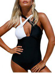 Criss Cross Color Block Swimsuit
