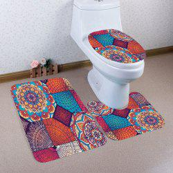 Bohemia Style Nonslip 3Pcs Toilet Bathroom Mat - COLORFUL