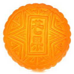Anti Stress PU Simulation Mooncake Toy Squishy - Brun-rouge