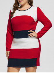 Plus Size Long Sleeve Slim Dress