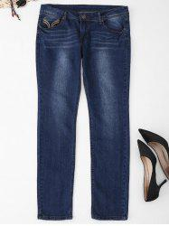 Plus Size Five Pockets Jeans