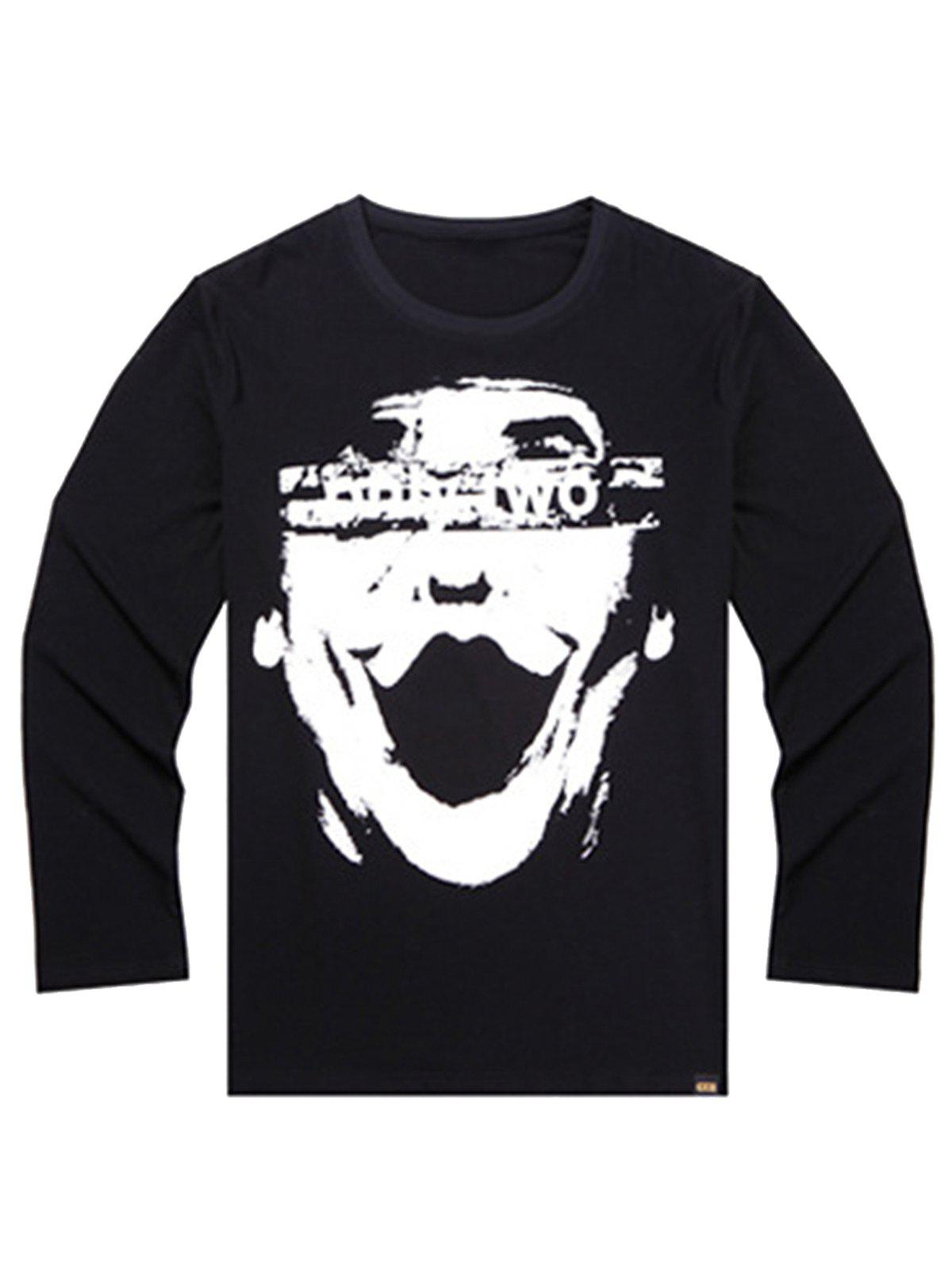 Affordable Printed Plus Size Long Sleeve T-shirt