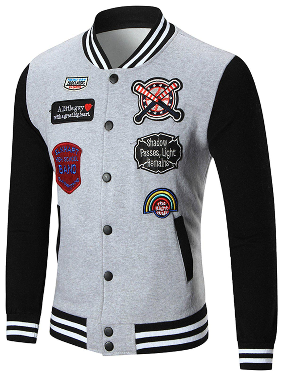 Veste de Baseball Patched Up Gris XL
