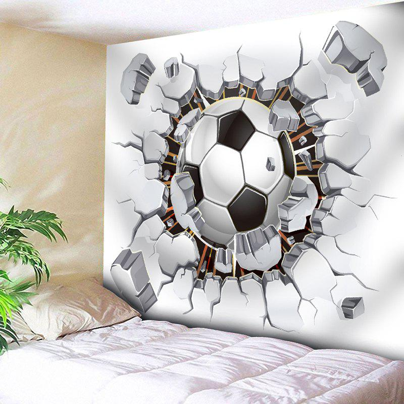 Football Pattern Wall Hanging Sport TapestryHOME<br><br>Size: W79 INCH * L59 INCH; Color: WHITE; Style: Fashion; Theme: Sports; Material: Polyester; Feature: Removable,Washable; Shape/Pattern: Ball; Weight: 0.3200kg; Package Contents: 1 x Tapestry;