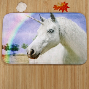 3Pcs / Set Rainbow Unicorn Non Slip Toilet Tapis -