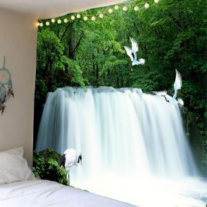 Waterfall Forest Printed Wall Tapestry