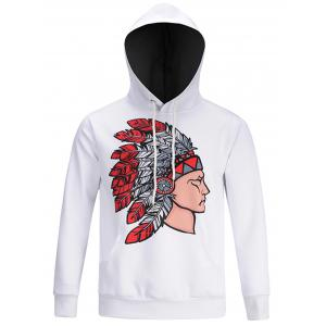 Hooded Chief Print Pocket Hoodie