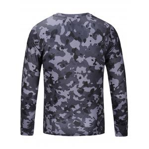 Camouflage Long Sleeve T-shirt - COLORMIX L