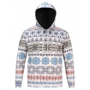 Ethnic Style Florals Print Hoodie