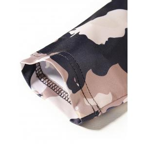 Camouflage Pattern Long Sleeve T-shirt - COLORMIX L