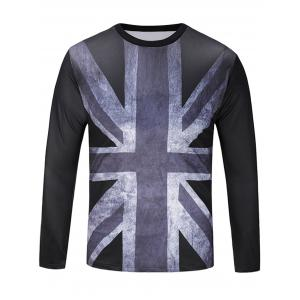 Distressed Union Jack Print Patriotic T-shirt