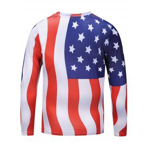 American Flag Chevron Stripe T-shirt - COLORMIX L