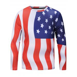 American Flag Chevron Stripe T-shirt